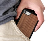 Wood iPhone 7 Case, Walnut Wood iPhone 7 Case, iPhone 7 Wooden Case - SHK-W-I7