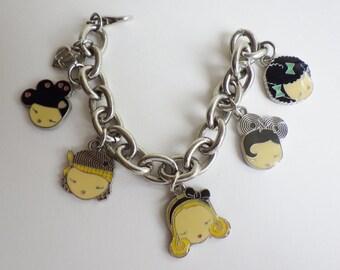 Vintage Anime Charm Bracelet signed HL