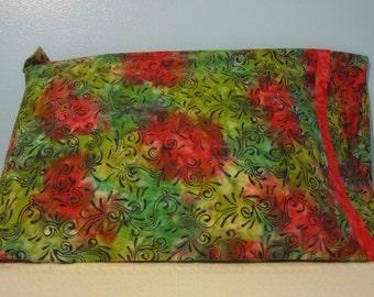 Green and Red Batik/Pillowcase