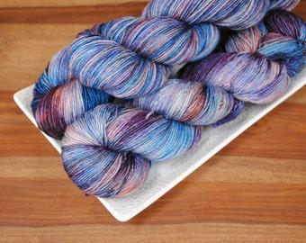 Into the Vortex on Tendril, Superwash Merino Fingering Weight Hand-dyed Yarn