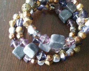 Purple Storm Wrap Bracelet One of a Kind SALE