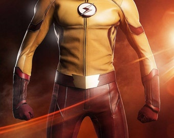 The CW Kid Flash (Wally West) emblem and belt buckle