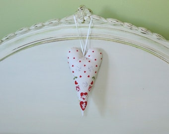 Red and White Valentine Heart Door Hanger