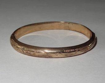 Victorian 12K Gold Filled Baby Bangle Bracelet circa 1880
