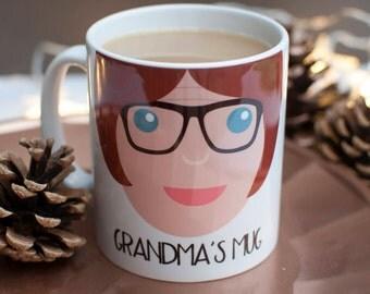 Personalised Grandma Gift Mug-Christmas Mug-Gift for Grandmother-Mug for Nan-Christmas Gift for Nanny-Birthday Gift Mug-Mug Gift-Grandma