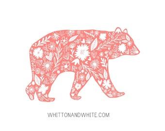 Bear Print - Folk Art