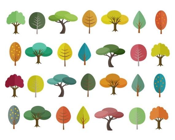 Tree Clipart Sale 60% off, Tree Clip Art, Digital Design ...