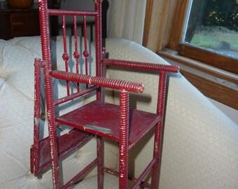 Victorian Doll High Chair