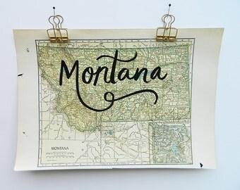 Montana Vintage Map