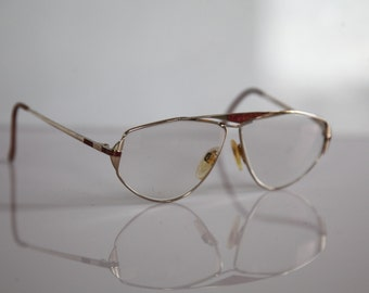 Vintage Rodenstock Lifestyle eyewear, GP Gold Plated Frame,  Clear  Lenses RX Prescription . Rare Piece. Made in Germany