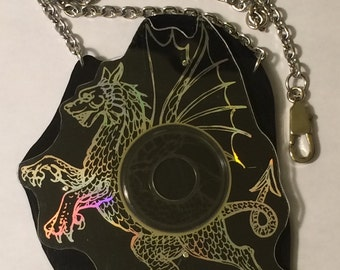 Steel Dragon cd necklace!