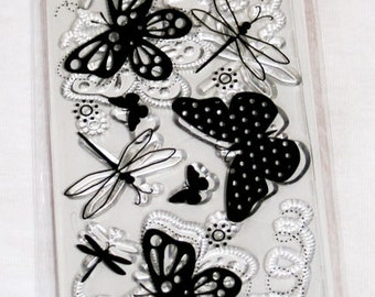 Summer Wings Clear Rubber Stamp from Fiskars
