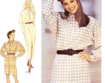 Style Dress Pattern 2310 - Misses'  Button Front Dress/Shirtdress in Two Lengths - Sz 8 thru 18