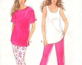 Simplicity Separates Pattern 7244 - Misses' Pullover Tops and Pants - SZ 8/10/12/14/16/18/20 - Uncut
