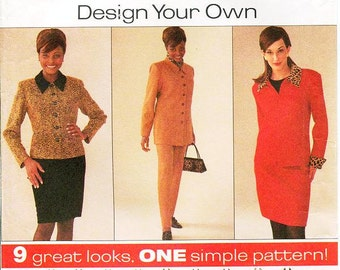 Pick A Size - Simplicity Separates Pattern 7311 - Misses' Jacket in Two Lengths, Skirt and Pants - Simplicity Patterns