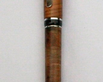 BIG BEN Crosscut Spalted PISTACHIO Rollerball Pen, with Black and Rhodium Hardware Hardware (640)