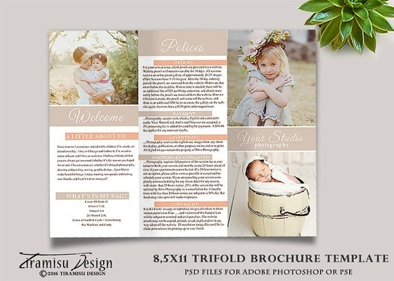 Family photography trifold brochure template client welcome for Welcome brochure template