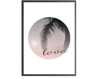 love circle colour art print