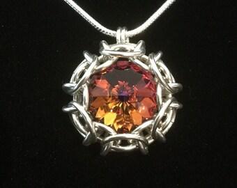 Large Phaedra chain maille pendant