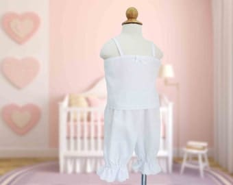 Heirloom Style Baby Camisole and Bloomers Set, Custom, Classic, Vintage