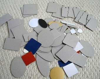 Chipboard Die Cuts, Paper Crafting Supplies, Tags, Various Shapes, Three lots, Choose One or All