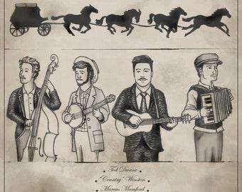 Mumford & Sons Gentlemen of the Road print
