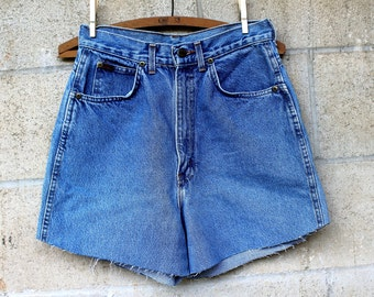 Vintage Chic Upcycled Jean Cut Offs, 1980's Size 28