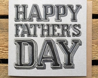 Father's Day Card - Card For Father's Day - Card For Dad - Happy Father's Day - Greetings Card - Dad Card - Father's day