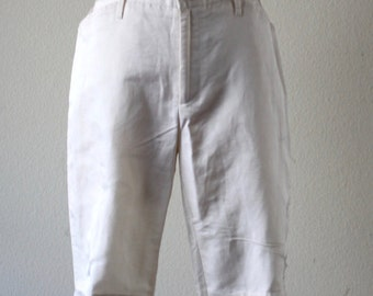 Vintage 1990s Cream Dolce And Gabbana Deadstock Silk And Linen Pants Made In Italy