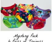 Reserved for Lainie - Mystery Pack of Childrens Cloth Training Pants - 6 Pairs Custom Made to Order - size 7