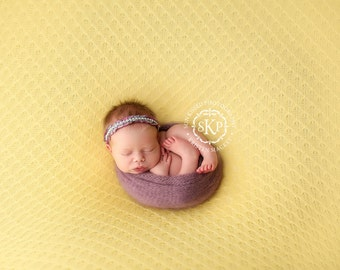 Newborn Photography Fabric Backdrop -  Grace Knit Backdrop in Yellow -  2 Yards