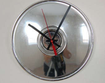 1970's Chevy Dog Dish Hubcap Clock