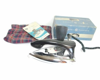 Vintage General Electric Portable Steam Iron Travel Iron