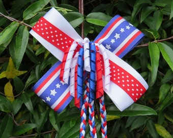 Red, White & Blue hair bow
