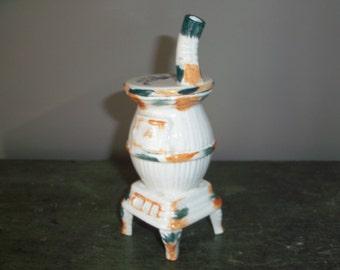 1940's Occupied Japan Ceramic Trinket Box Stove
