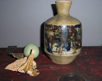 North Carolina Folk Art Pottery Handmade Vase Jar Bottle