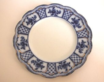 Antique Collectible Melbourne (Flow Blue) by Grindley 9 inch Dinner Plate
