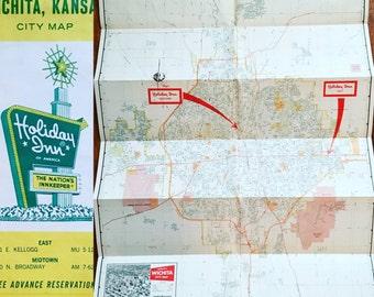 Vintage Holiday Inn Wichita Kansas map
