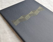 Metallic Geometric Notebook with Embroidery