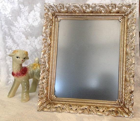 large 8 x 10 photo picture frame gold tone metal. Black Bedroom Furniture Sets. Home Design Ideas