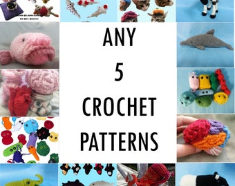 5-Pack Any Crochet Patterns You Choose Your PDFs!