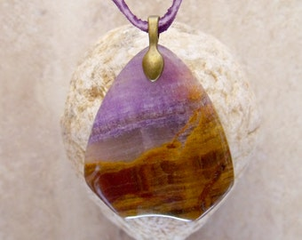 Purple Lace Chalcedony Necklace