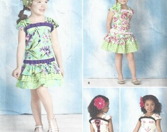 SALE 30% OFF Simplicity 1627 Drop Waist Girls Tops and Tiered Skirts  3 4 5 6 7 8