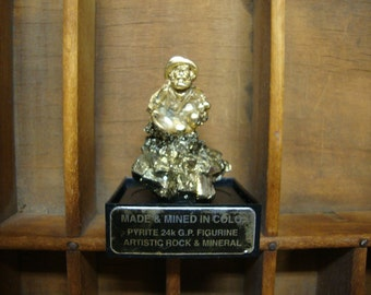 Pyrite 24 K.G.P. Figurine Artistic Rock and Mineral