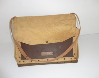 RARE Collectible Vintage 1930s Bristow Portable Mail Distributor Postal Bag USPS Post Office