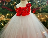 Red and White Sparkle Christmas Tutu Dress - infant thru girls 10
