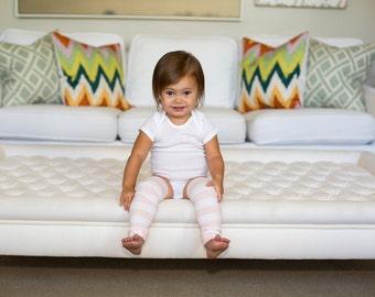 Pink Stripes Baby Leg Warmers