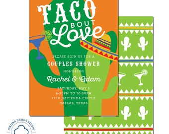 Taco Bout Love Invitation | Wedding Party, Engagement Party, Couples Shower