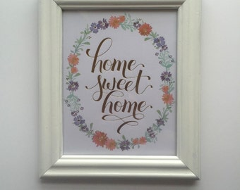 White Frame, Add-On to Any Print.
