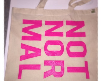 NOT NOR MAL  Canvas Tote Bag // Gold
